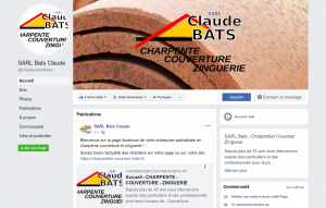 Facebook de l'entreprise SARL Bats Claude @charpentierbats